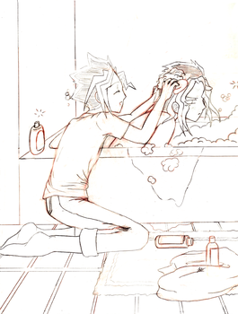 Puzzleshipping - Bath Time by Joz-yyh