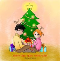 For Yu-chan - Happy New Year by Kotik-Stells