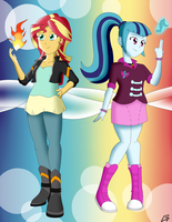 Request: Sunset and Sonata by MegaArtist923