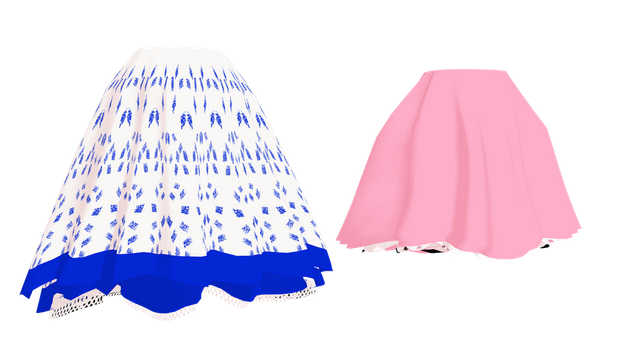 MMD Fluffy Skirts by mbarnesMMD