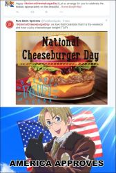 #NationalCheeseburgerDay ||AMERICA APPROVES|| by CloyeDocete