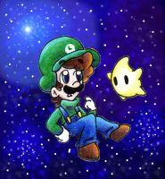 Luigi in the Galaxy by BabyAbbieStar