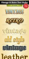 Vintage and Retro Text Styles by stefusilviu