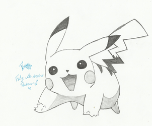 Art Request - Pikachuu by Deathberry-Chama