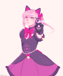Overwatch Dva - Black Cat by mareuseu