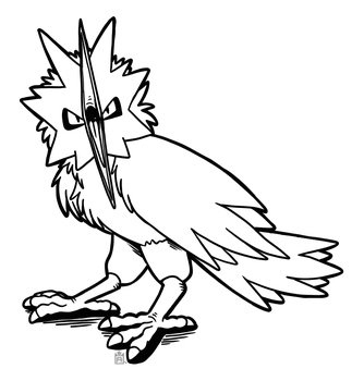 Zapdos free to use lineart! by Scuterr