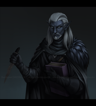 [COMM] Dark Elf by VictoriaDAEDRA