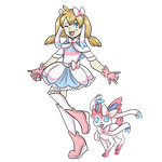 Sylveon Pokemon trainer by Grump-Support