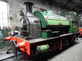 Keighley Gasworks No. 2 in Marley Hill Engine Shed by rlkitterman