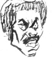 Black Dynamite (Traditional Grayscale) by Joshtrip1