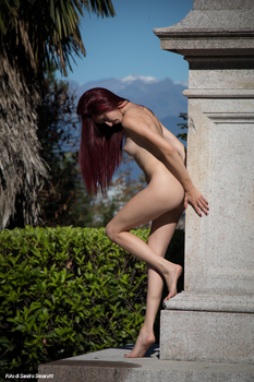 RedClo nude near the obelisk 01 by Darthsandr
