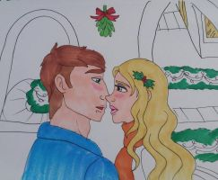 Christmas mistletoe  by Bella-Who-1