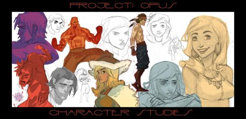 PROJECT: OPUS - Character Studies by MicahJGunnell