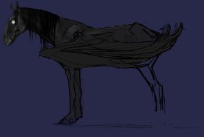 Unfinished Thestral by aspera