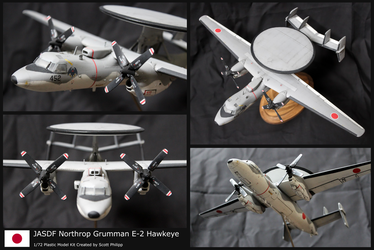 JASDF Northrop Grumman E-2 Hawkeye Model Kit by shadowvfx