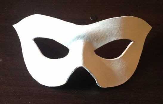 Tuxedo Mask (Leather mask in white) by JN-Leather