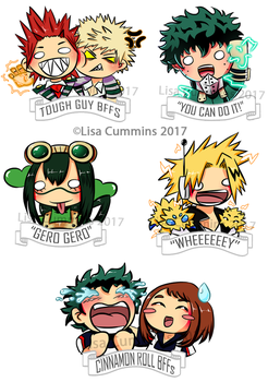 BNHA Chibis Stickers by BaGgY666
