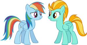 Rainbow Dash and Lightning Dust by Vector-Brony