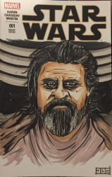 Luke Skywalker Sketch Cover by sedani
