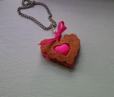 heart biscuit pendant by strictlyhandmade
