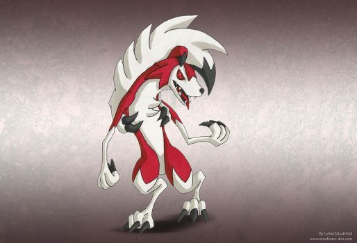 Lycanroc midnight form by LeMuTaLisKFoU
