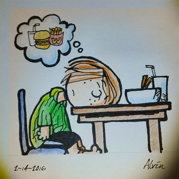 Peppermint Patty on food coma by ojneb12