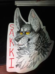 Sakki badge by Sakkigami