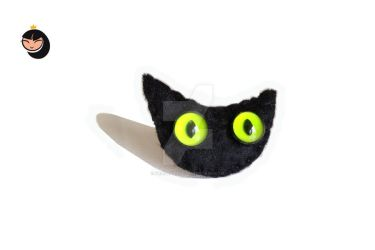 Brooch black cat by Friesenliese