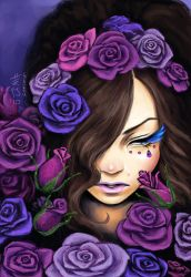 A Memory of Violet Roses by GEIKOUart