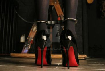 Red Soles and Handcuffs by Ange1ica