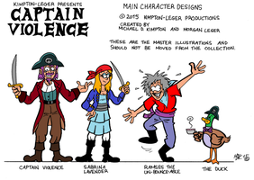 Captain Violence (2015) by MDKartoons