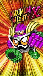 Maximum Mighty X Gashat Art by VexylGraphics