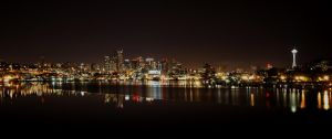 Seattle at night by limitlis