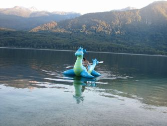 With Nessie on a lake by Alan7812