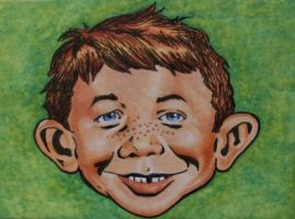 Alfred E. Neuman (MAD) by TinyAna