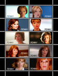 NCIS Jenny Shepard Stamp Sheet by poserfan