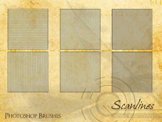 8 Scanlines - PS Brushes by Aeorys