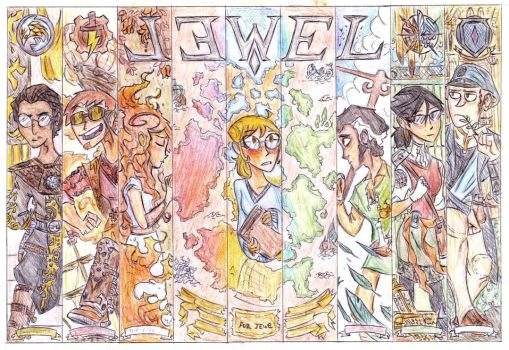 Jewel Poster - colour pencils by Teh-Gardy