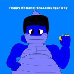 Happy National Cheeseburger Day by GoshaWorld
