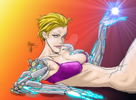 Coloring Otto Schmidt - Cyber Girl by Jason-Heichel