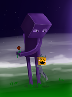 Enderman Hug! by Maria-Ben