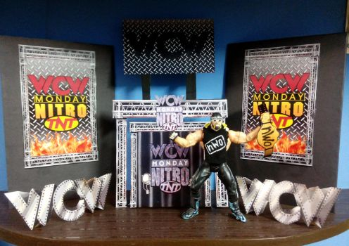 Custom made Hollywood Hogan NWO WCW Nitro figure by SylentEcho88