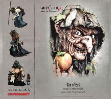 The Witch Artwork Witcher3 by ArthusokD