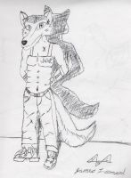 Jacob Wolfe At Attention by ZombiePwner5