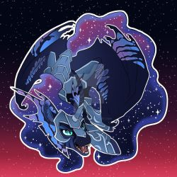 Nightmare Moon Button Design. by turnipBerry