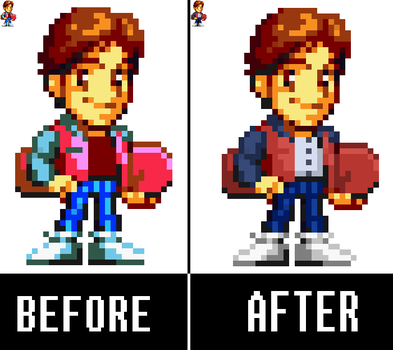 Marty McFly Sprite Recolored by THATBORINGBAND