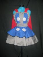 Thor Inspired Cosplay Pinafore With Cape by DarlingArmy