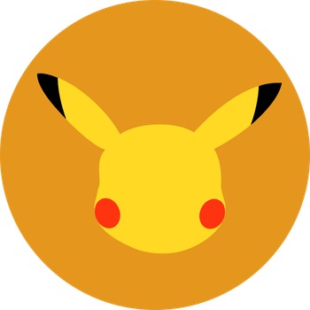 Minimalist Pikachu Icon (Free to use) by Jedflah