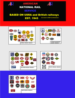 American Railroads ( my version) by mrbill6ishere