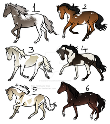 20 - 25 point horse adopts Batch 9 -CLOSED- [0/6] by TheAdoptArtist